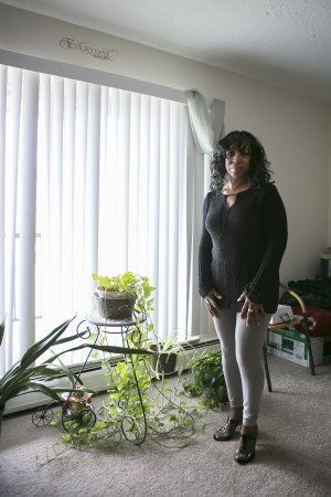Sheri West at her new home in Euclid