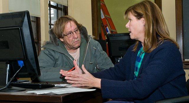 Loren Zbitniewski with volunteer instructor Sandy Broerman