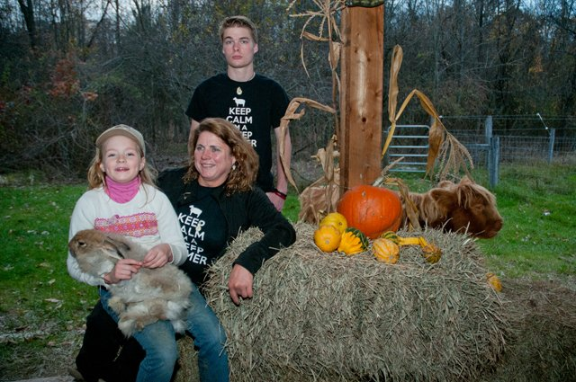 Laura Deyoung with son Christian and daughter Erika  – The Spicy Lamb Farm