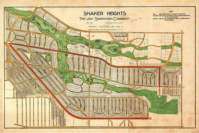 Shaker Hts plat map