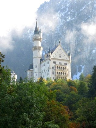 Picturesque picture of German castle