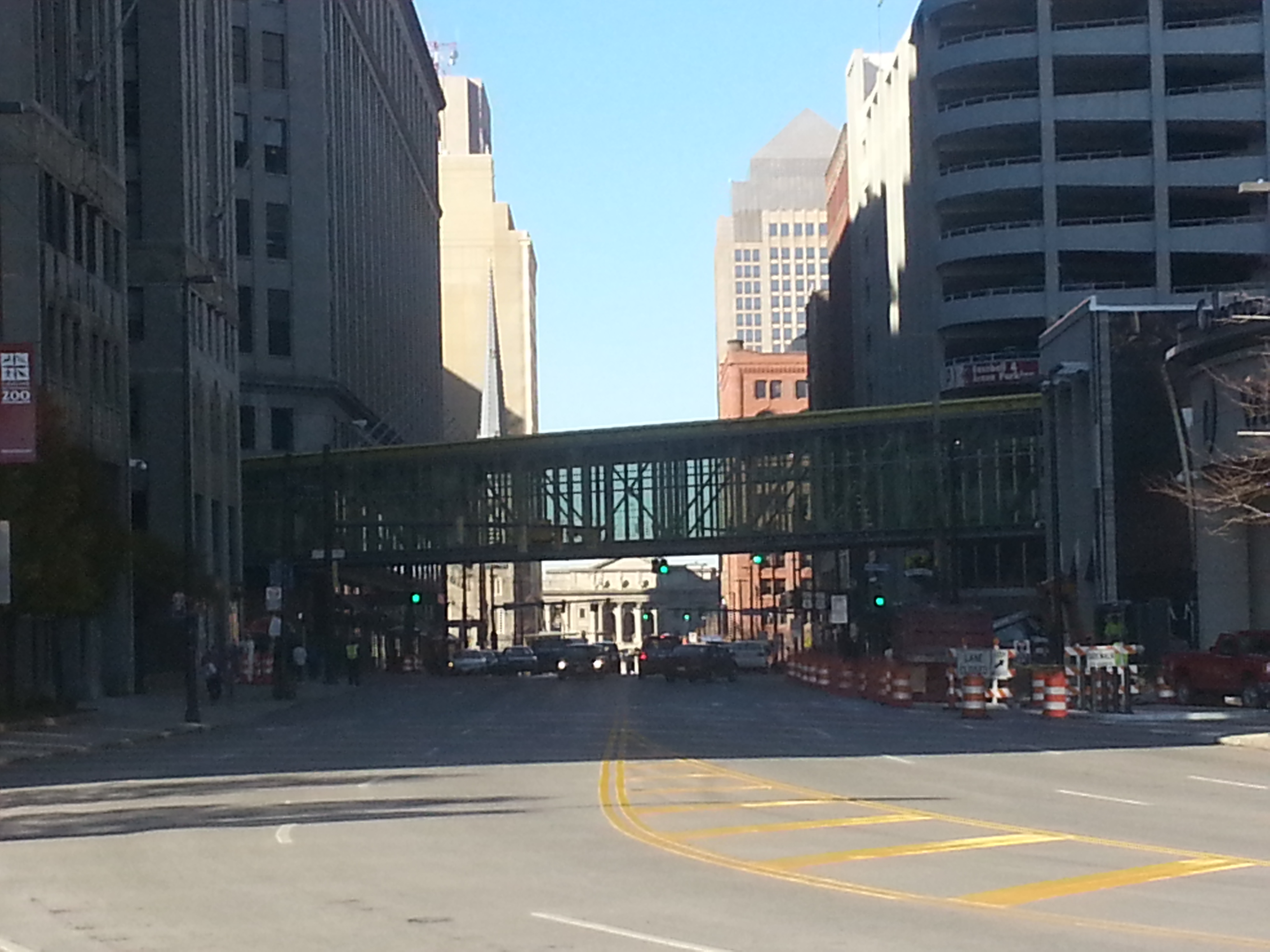 Downtown Cleveland land bridge