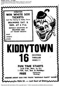 Kiddy Town advertisement from the Chicago Daily Defender, July 29, 1965.