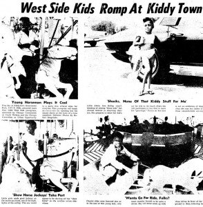 Kids at Kiddy Town (later renamed Fun Town), from Chicago Daily Defender, August 24, 1965.