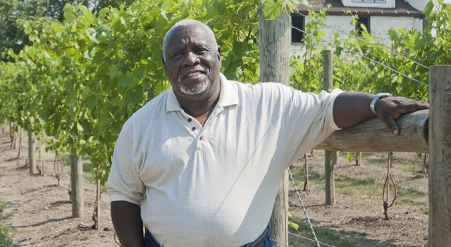 Cleveland journalist, radio host, and vintner, Mansfield Frazier - photo Bob Perkoski