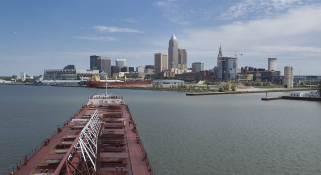 Cleveland Ore Freighter - photo Bob Perkoski