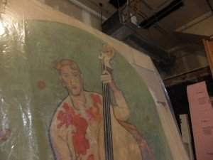 A homeless bass player (William Sommer, circa 1927) languishes in storage at ICA.