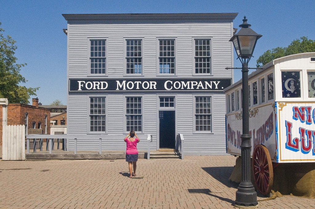 Quarter Size Replica of Ford's Mack Ave. Plant (2009)