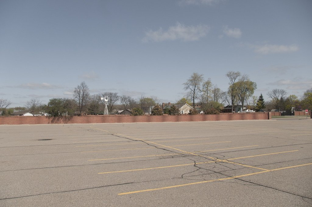Greenfield Village parking lot during the off-season (2012)