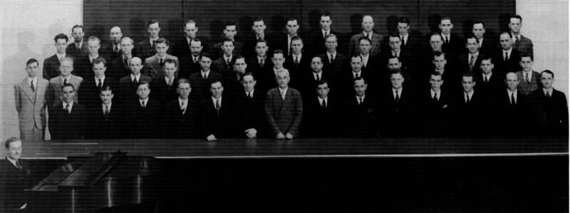 The Dow Male Chorus, 1936