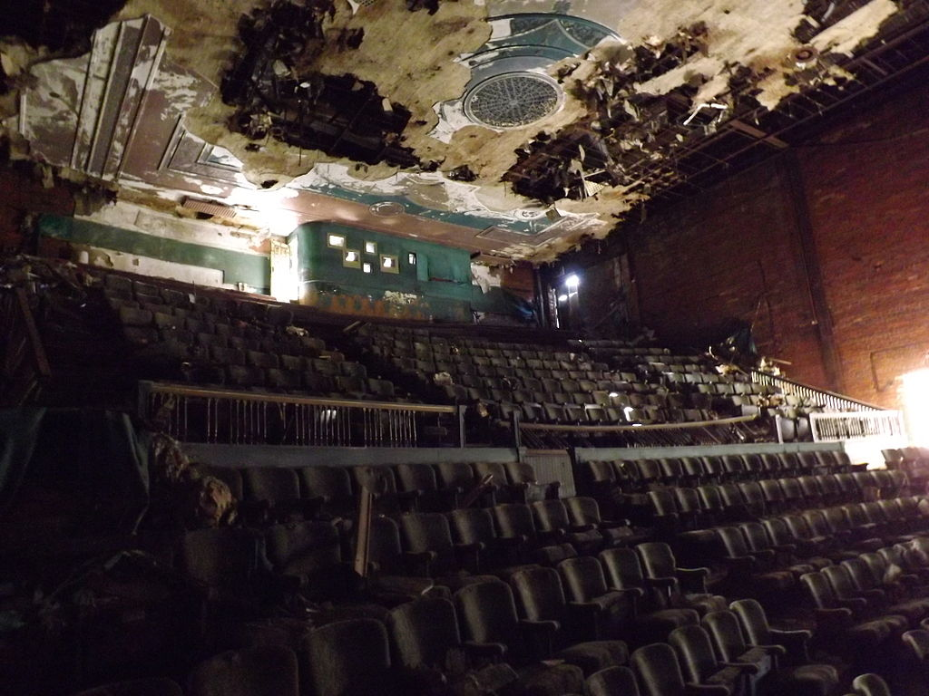 The battered interior of the Liberty/Paramount, since demolished. Photo courtesy  Ohio Office of Redevelopment.