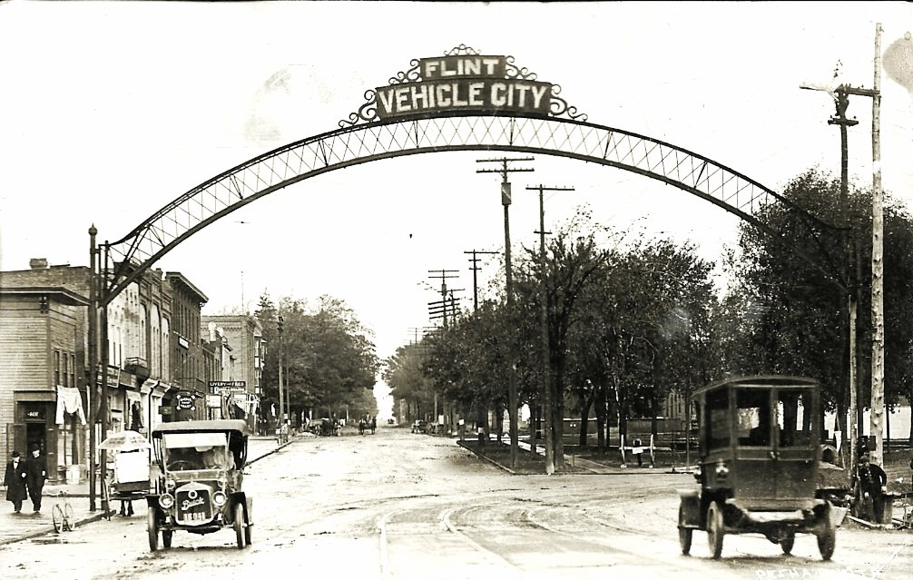 Vehicle City in 1913, not long after the switch from carriages to automobiles. Photo via Flickr user Wystan, used under a Creative Commons license.
