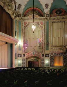 A detail of the interior of the former Warner Theatre. Photo courtesy of the Mahoning County Convention and Visitors Bureau.