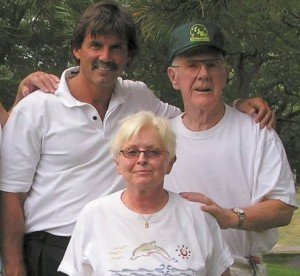 Keating Center founders Dennis Eckersley, Jack Mulhall, and Phyllis Eisele-Curran (Photo via Keating Center)
