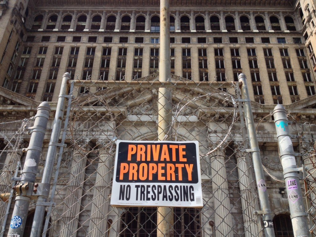 Detroit's vacant Michigan Central Station is controversial [Image credit: Isaac Mathes]