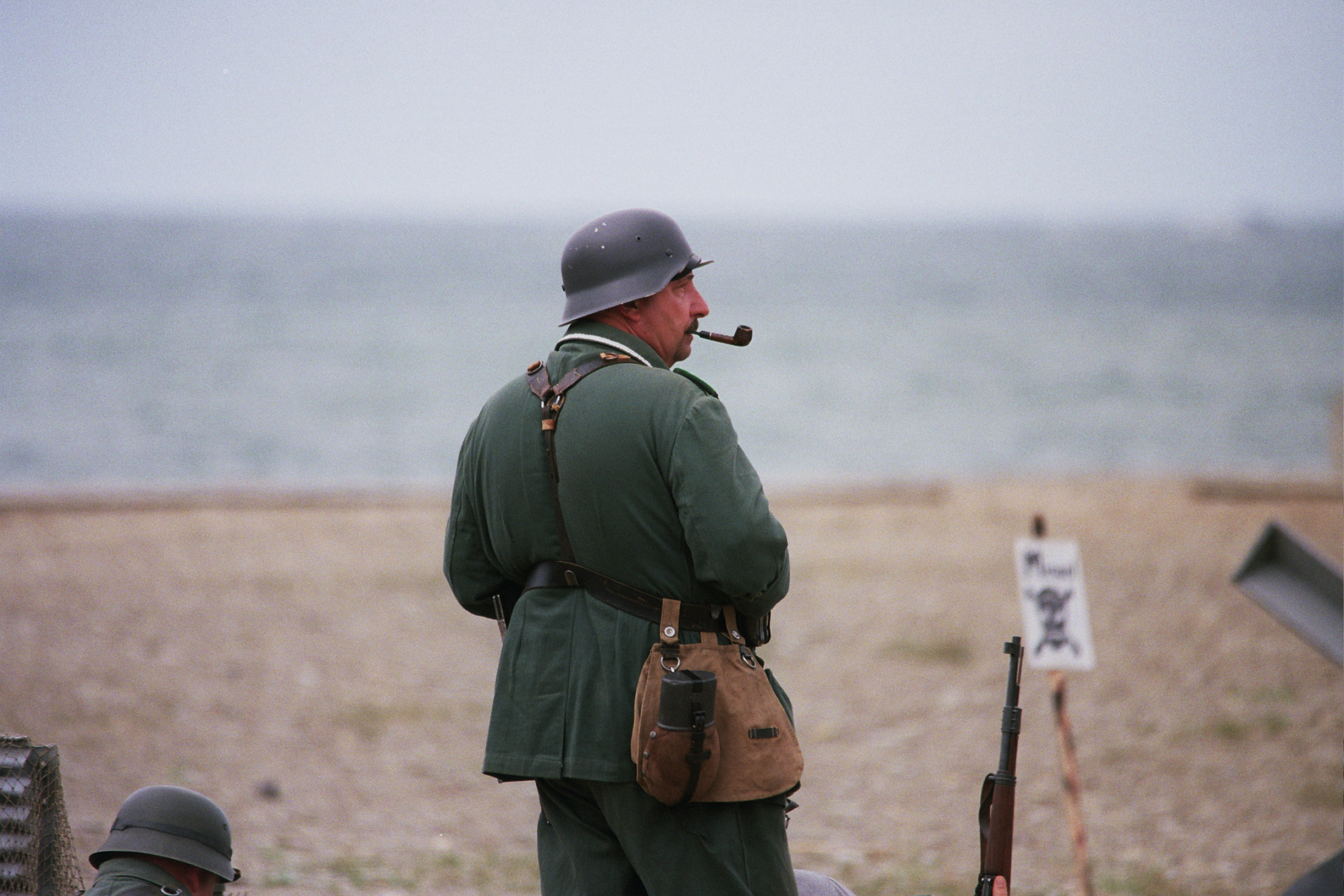 storming the beach at conneaut - a wwii reenactment