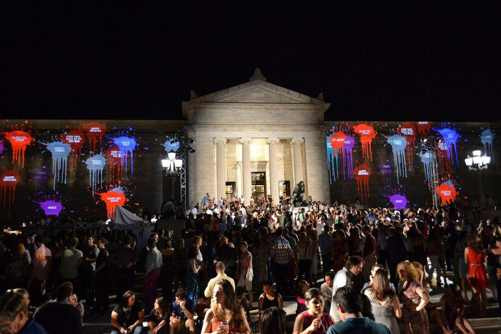 Summer Solstice party at the Cleveland Museum of Art [credit: Roger Zender, via Wikimedia Commons]