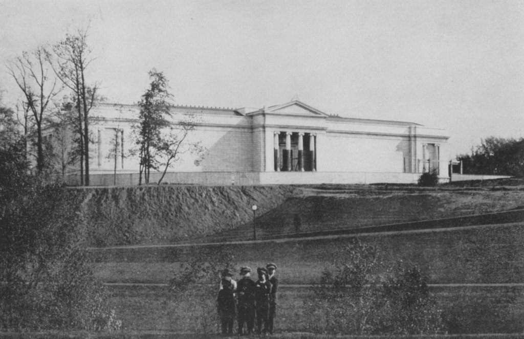 The building from the Lower Boulevard, April 1915