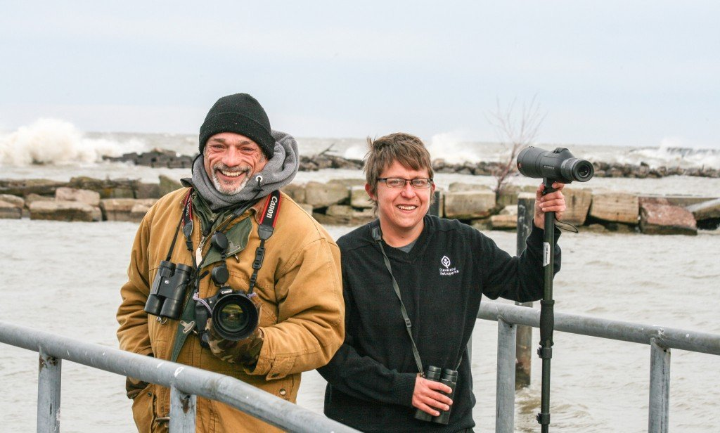 Photographer Chuck Slusarczyk Jr. and Cleveland Metroparks Naturalist Jen Brumfield brave Lake Erie each winter to watch for rare gulls.