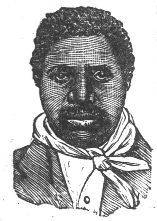 Cincinnati Evening Post drawing of the burker Ben Johnson, published the day of his execution, September 12, 1884.