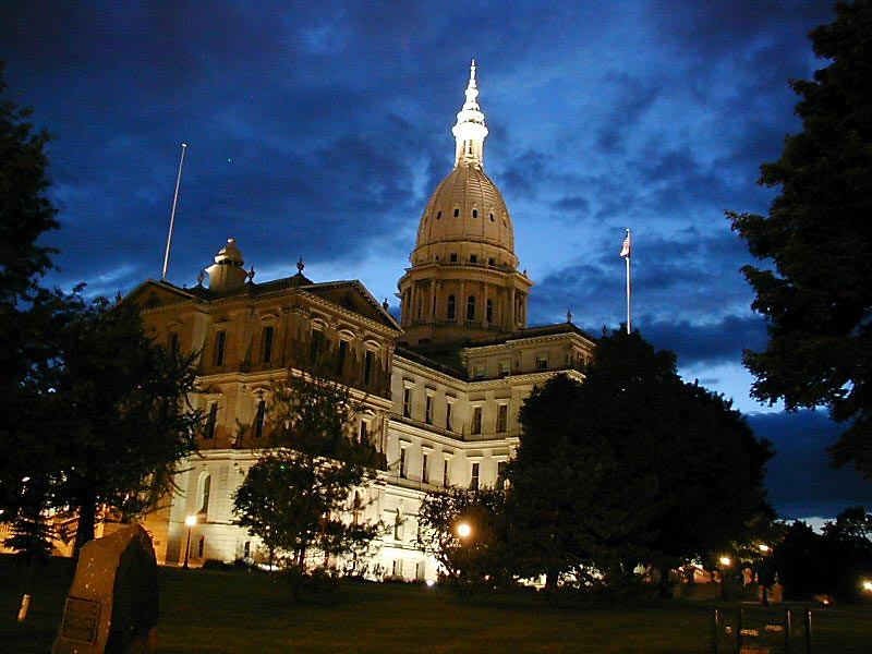 Michigan State Capitol [Credit: Criticalthinker via Wikipedia Commons]