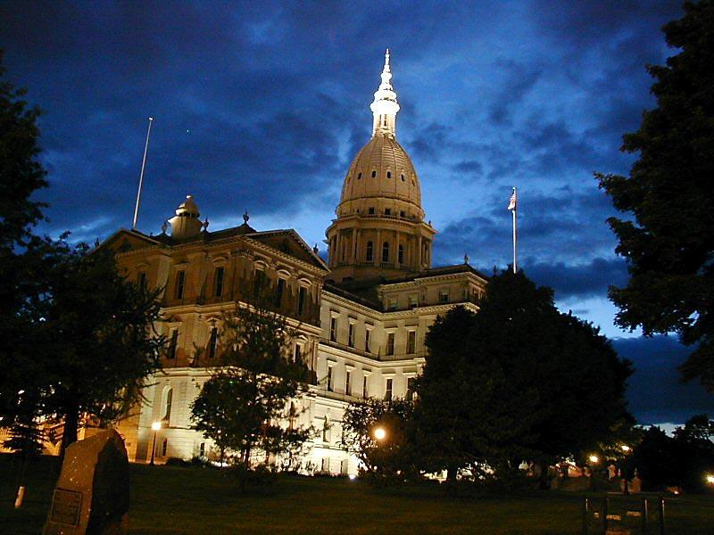 Michigan State Capitol [Credit: Criticalthinker via Wikipedia Commons]