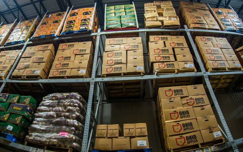 Local produce at the Cleveland Food Bank