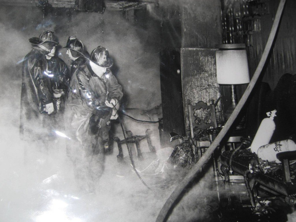 Youngstown Fire Department putting out the blaze [courtesy of Youngstown Club]