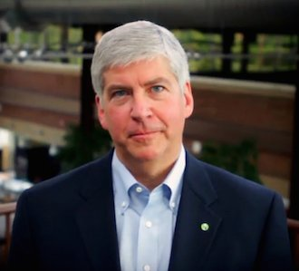 Michigan governor Rick Snyder [Credit: Office of Governor Rick Snyder, via Wikimedia Commons]