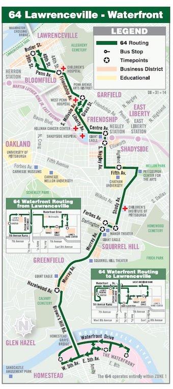 64 bus route s