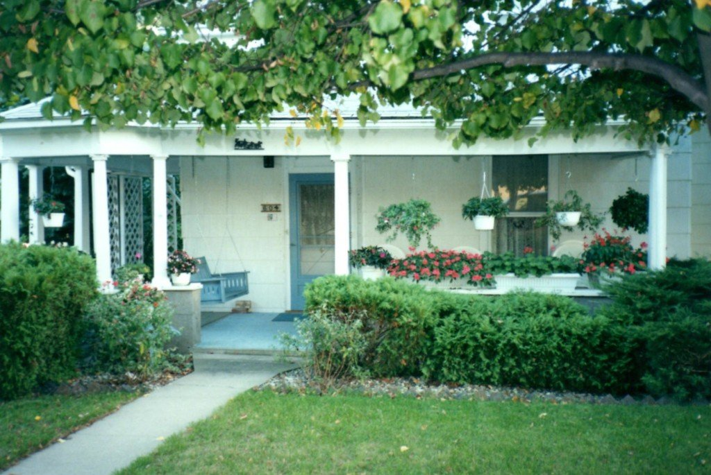The front porch at 603 E. Wilson St., Oxford, Indiana.