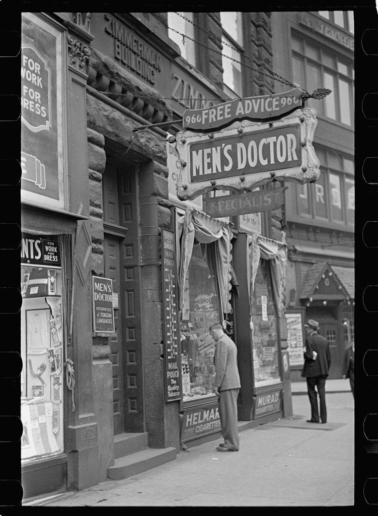 Arthur Rothstein, Quack doctor, 1938.
