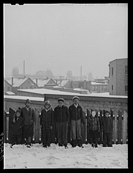 John Vachon, Steelworkers' sons, 1941.