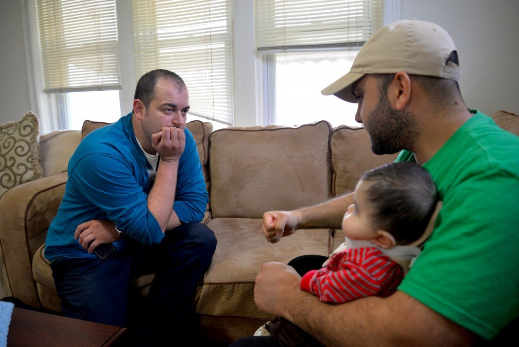 Bijedic and Mohamed discuss baby Ali's last doctor's appointment.