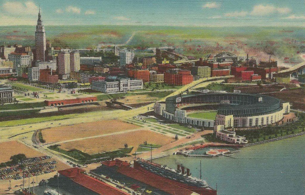 Cleveland and Municipal Stadium [credit: Don Harrison (http://flickr.com/photos/upnorthmemories)]