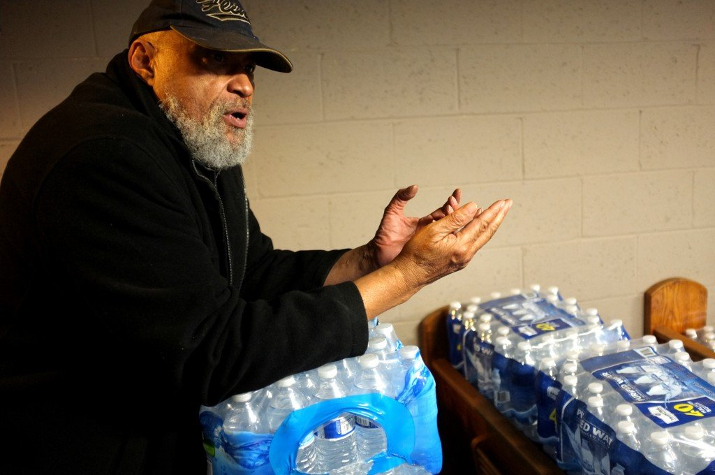 Pastor Bobby Jackson runs the Mission of Hope shelter on Flint's north side. After recently making the national news, he's running out of room for the water being donated, but he's already preparing for when that water runs out.
