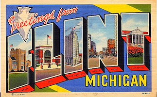 Flint postcard s