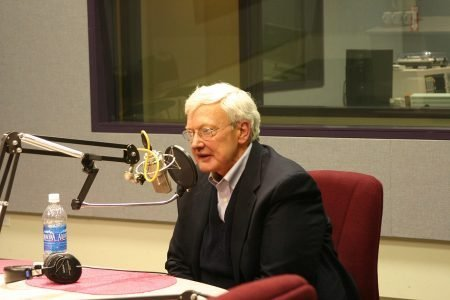 Roger Ebert at a Chicago public radio station, December 5, 2007 [credit: Sound Opinions, via Wikimedia Commons]