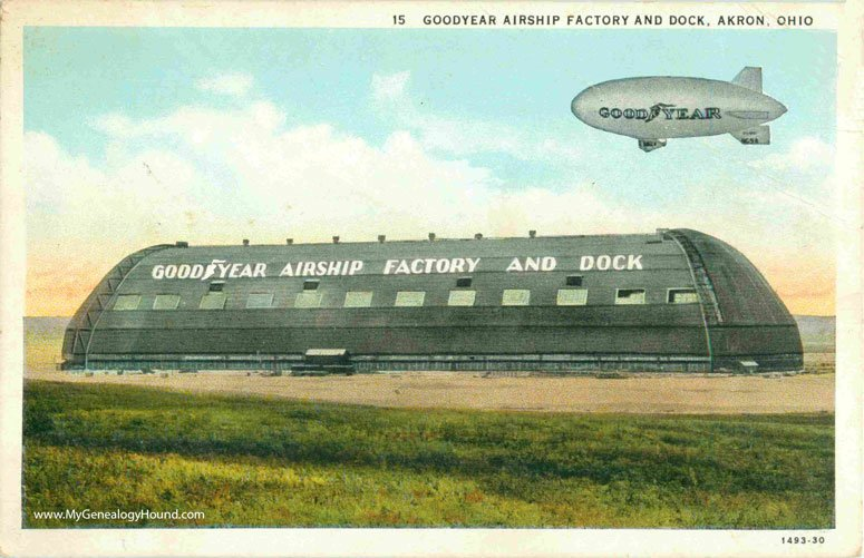 OH-Akron-Goodyear-Airship-Factory-and-Dock-vintage-postcard