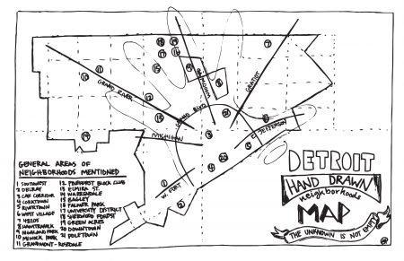 Detroit Neighborhood Map on