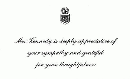 Jackie Kennedy Letter Response