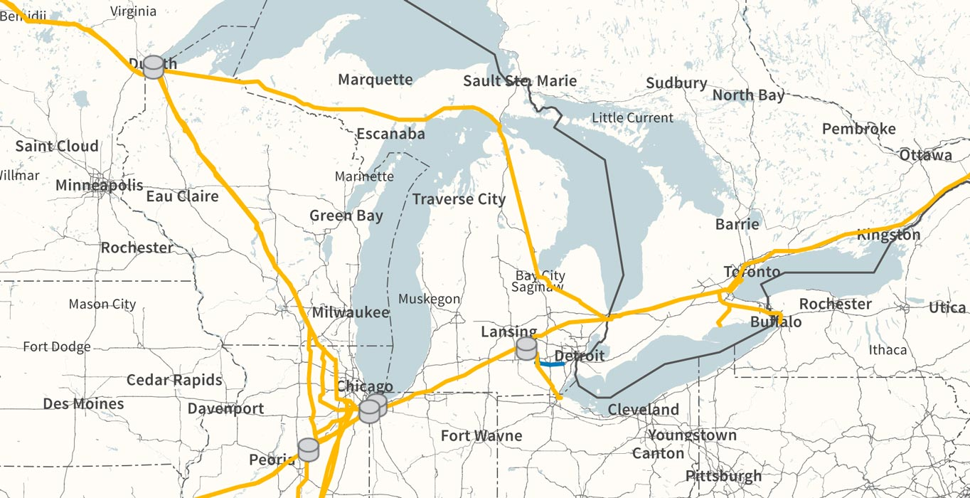Enbridge Mainline Lakehead Map