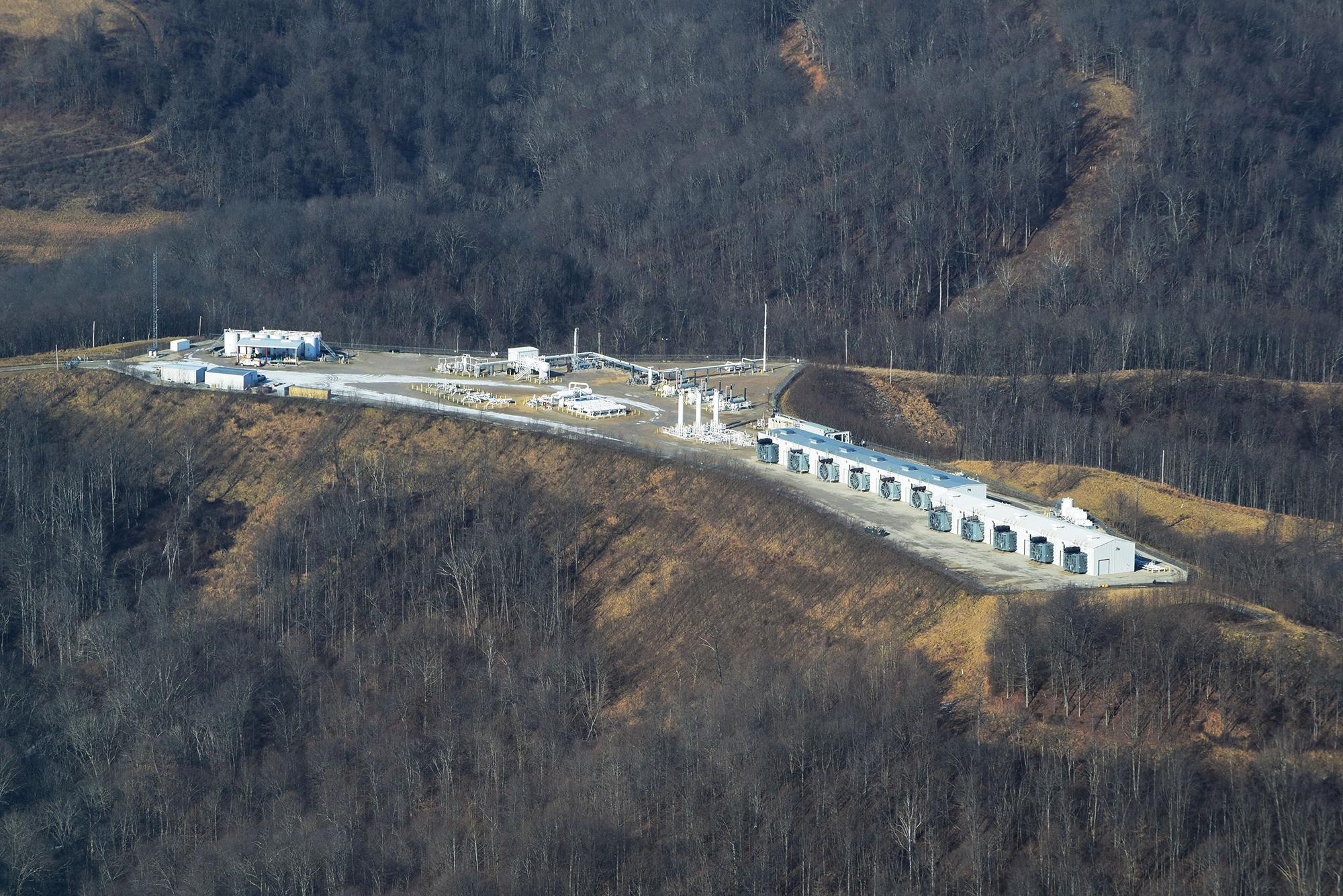 Natural gas compressor station. WV.