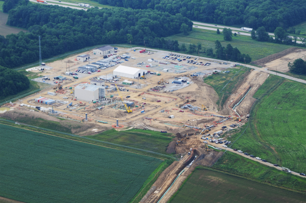 Wadsworth compressor station (under construction). Medina County, OH.