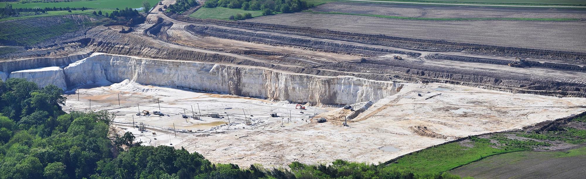 Fairmount Santrol frac sand mine and processing site. Wedron, IL.