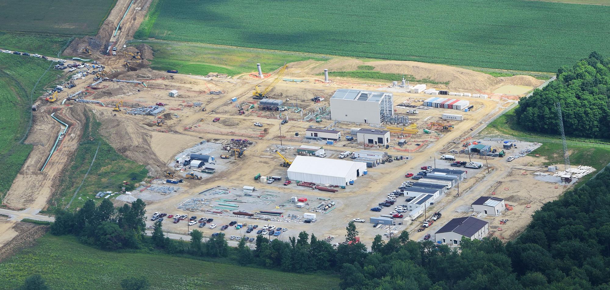 Wadsworth compressor station (under construction). Medina County, OH.