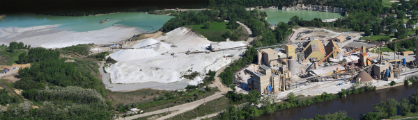 US Silica Covel Creek fraca sand mine. Ottawa, IL.