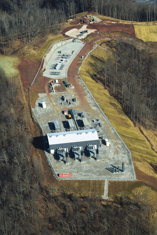 MarkWest Rover Pipeline Procession/Fractionation facility. Doddridge County, WV.