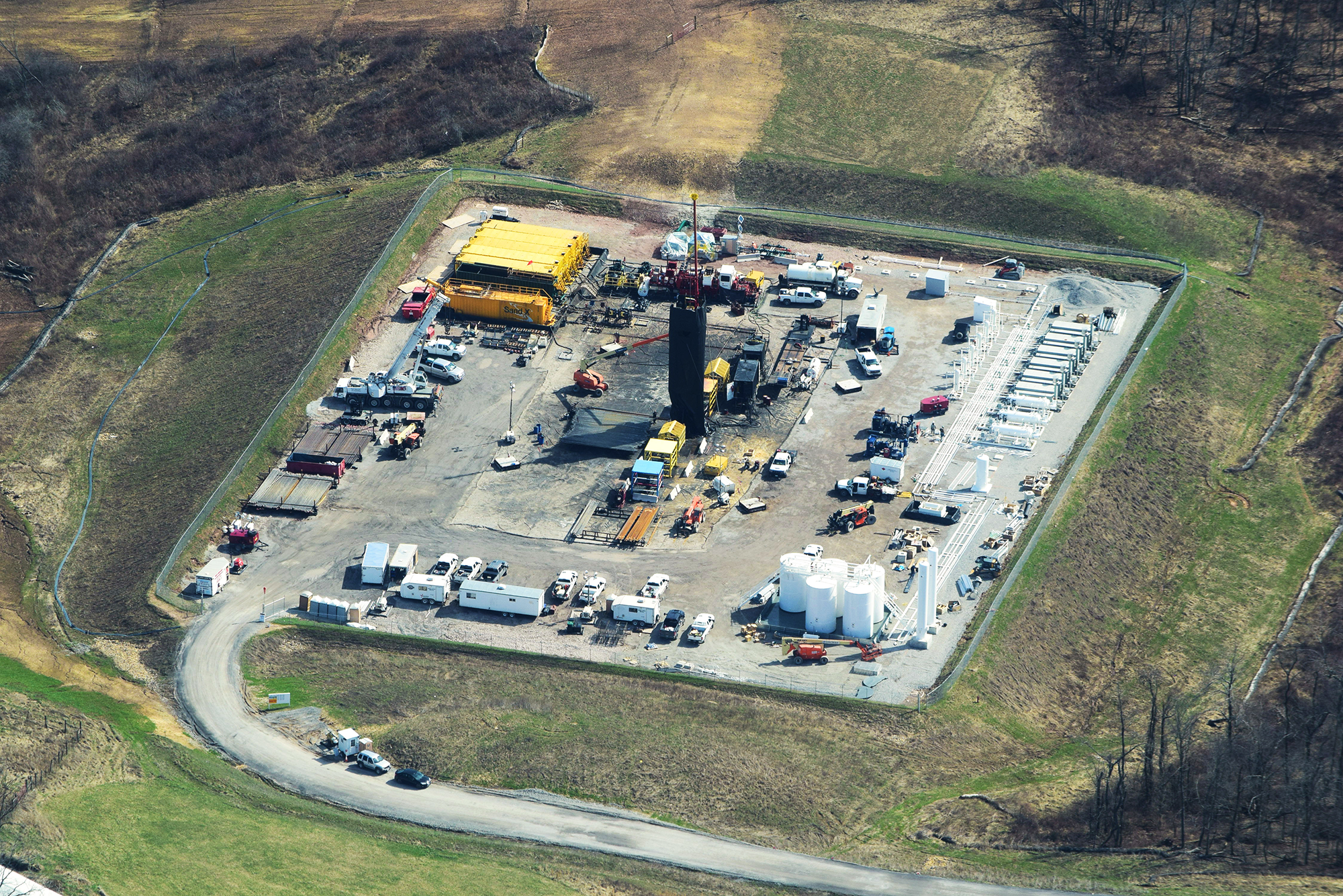 """""""Refracking."""" Guernsey County, OH."""