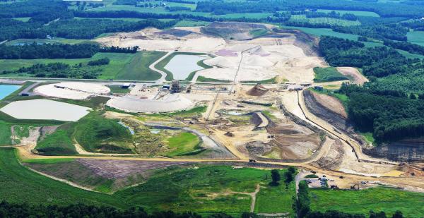 Frac sand mine. Jackson County, WI.